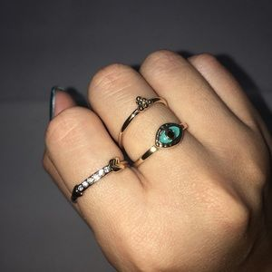 Jewelry - Evil Eye Rings Set Gold